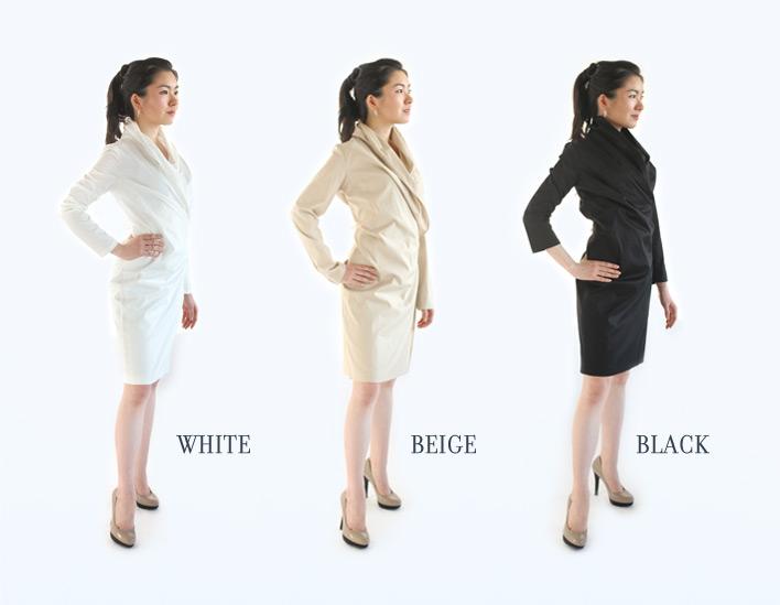 WHITE / BEIGE / BLACK